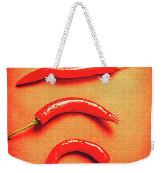 Scorching Food Background Weekender Tote Bag