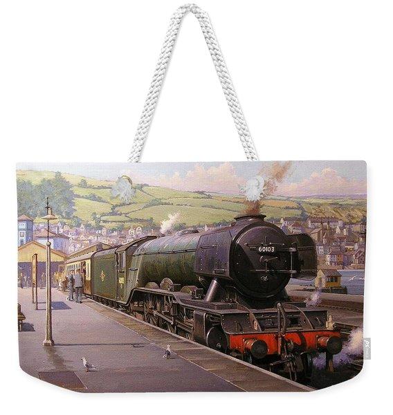 Scotsman At Kingswear Weekender Tote Bag