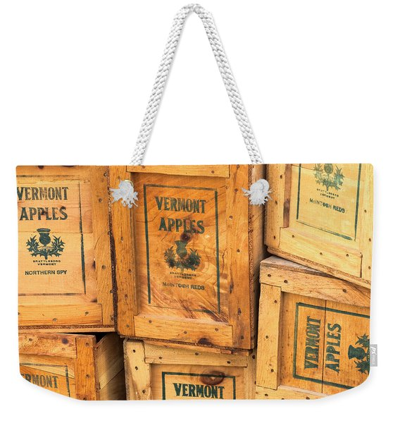 Scott Farm Apple Boxes Weekender Tote Bag