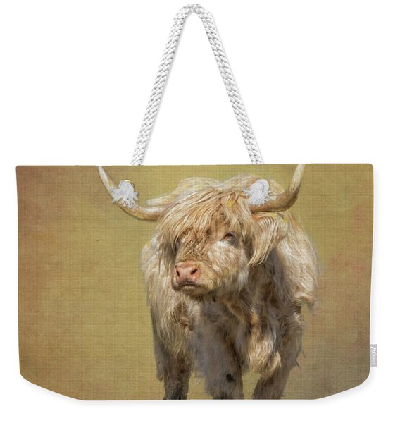 Scottish Highlander Weekender Tote Bag