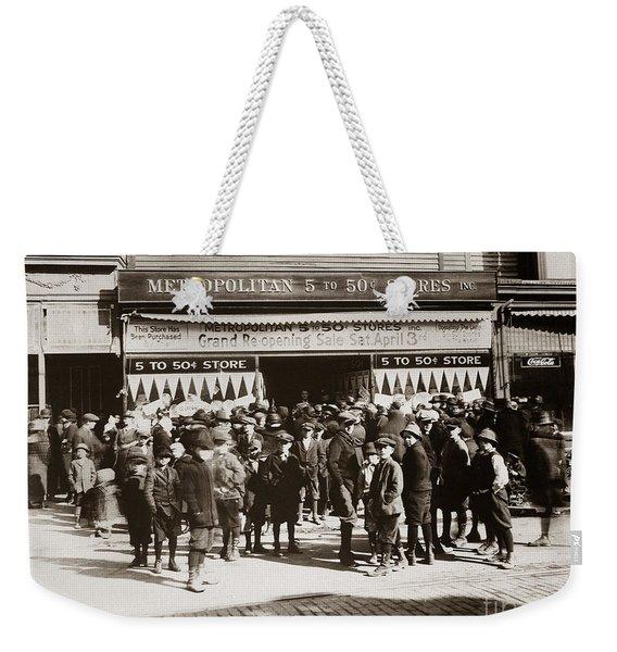 Scranton Pa Metropolitan 5 To 50 Cent Store Early 1900s Weekender Tote Bag