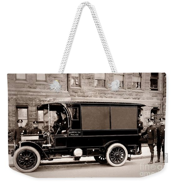 Scranton Pennsylvania  Bureau Of Police  Paddy Wagon  Early 1900s Weekender Tote Bag