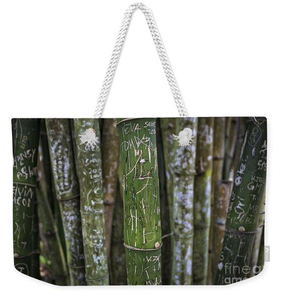 Scratched Bamboo Weekender Tote Bag