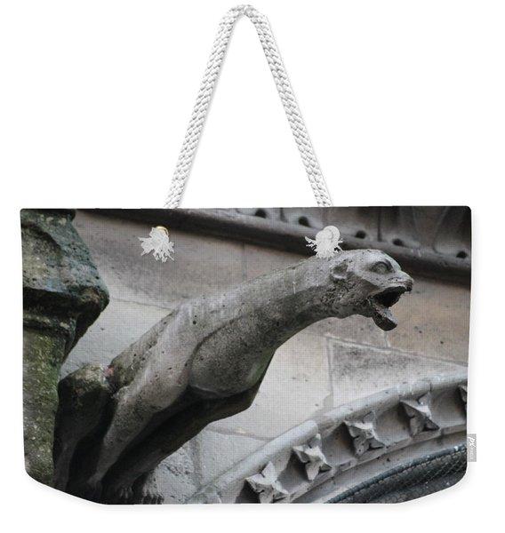 Screaming Griffon Notre Dame Paris Weekender Tote Bag
