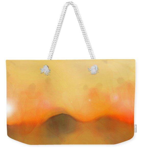 Weekender Tote Bag featuring the digital art Scrim by Gina Harrison