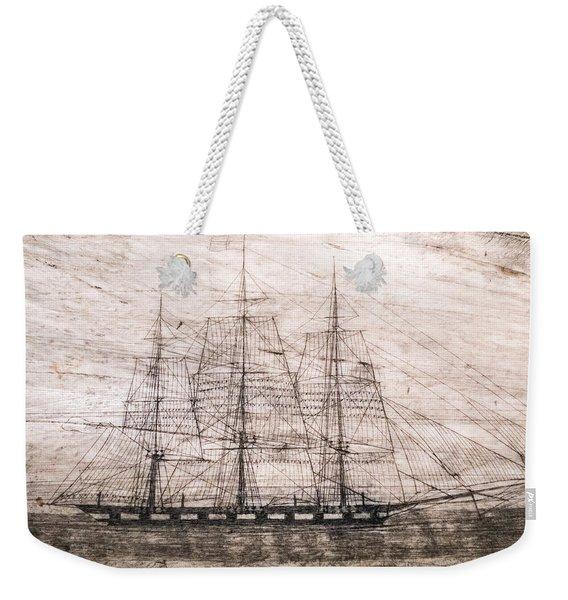 Scrimshaw Whale Panbone Weekender Tote Bag