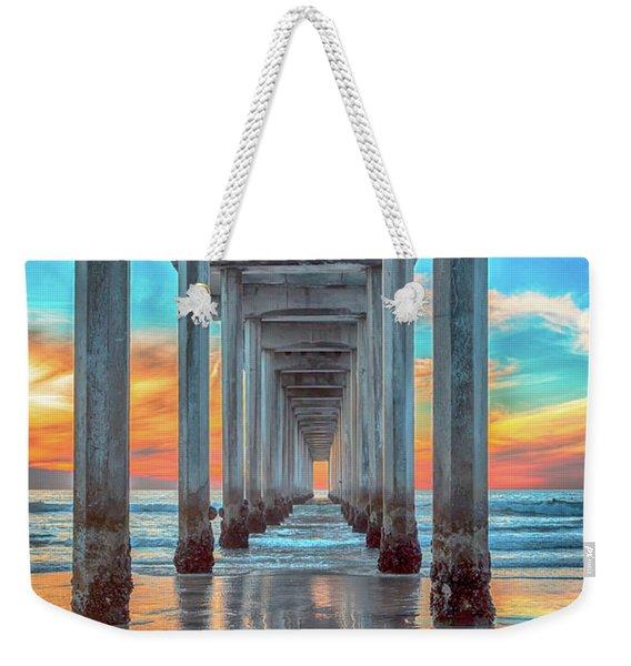 Scripps At Sunset Vertical Weekender Tote Bag