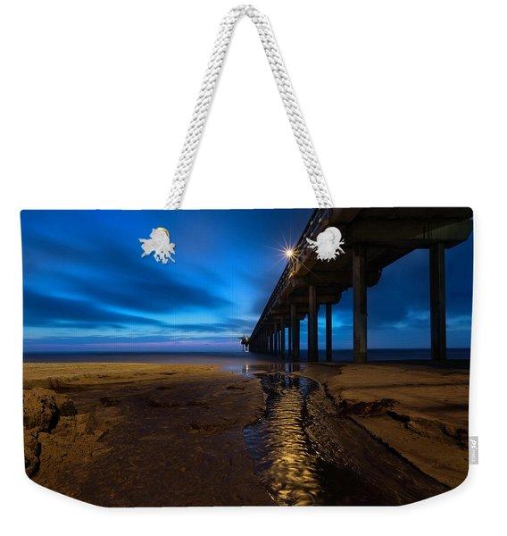 Scripps Pier Blue Hour Weekender Tote Bag