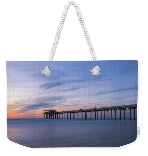 Scripps Pier Silhouette  Weekender Tote Bag