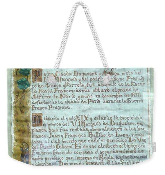 Script Of A Priest Weekender Tote Bag