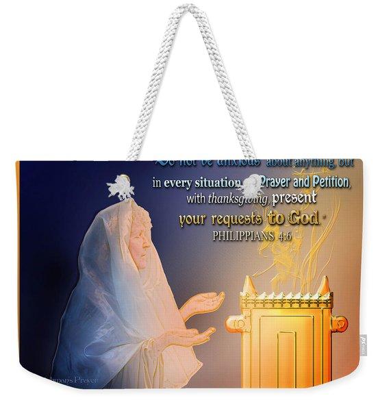 Scripture Art   Watchman's Prayer Weekender Tote Bag