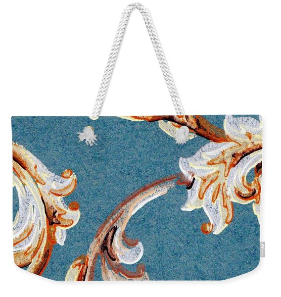 Weekender Tote Bag featuring the painting Scrolled Whimsy by Writermore Arts