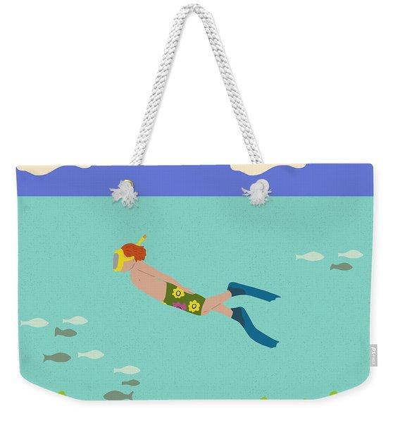 Scuba Boy Weekender Tote Bag
