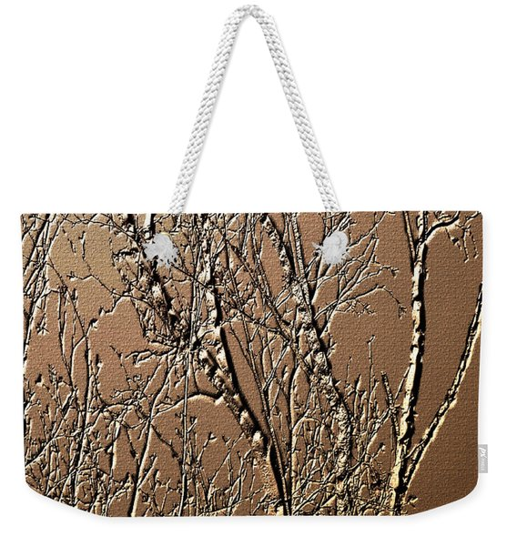 Sculpted Tree Branches Weekender Tote Bag
