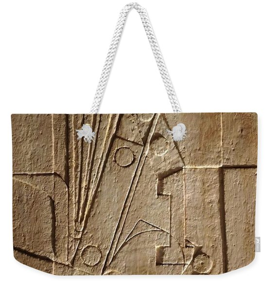 Sculptured Panel - Influenced By Picasso's Painting Having The Number 1 Weekender Tote Bag