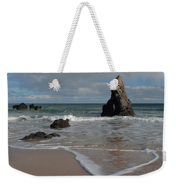 Sea Foam On Sango Bay Weekender Tote Bag