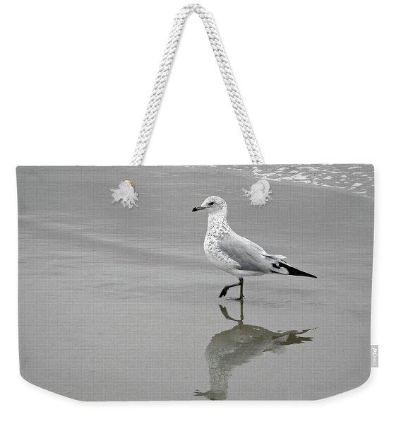 Sea Gull Walking In Surf Weekender Tote Bag