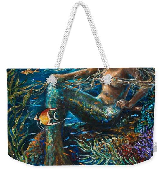 Sea Jewels Mermaid Weekender Tote Bag