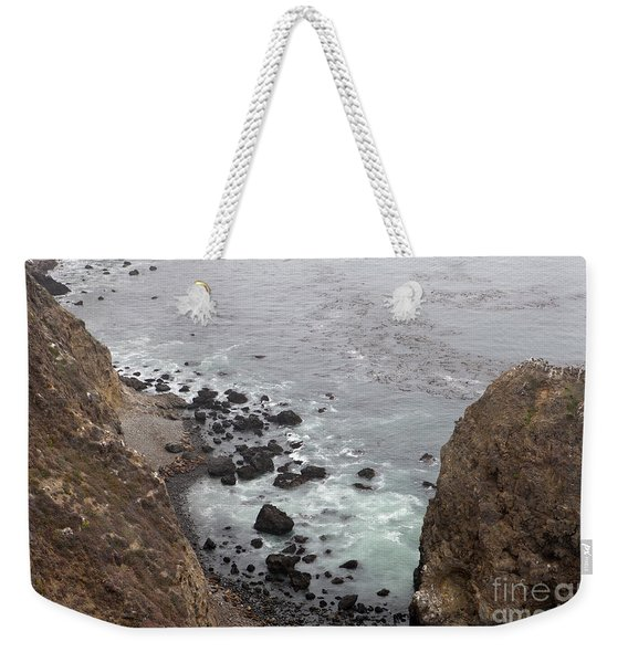 Sea Lions Along The Rocky Beach, Anacapa Island, Channel Islands National Park Weekender Tote Bag