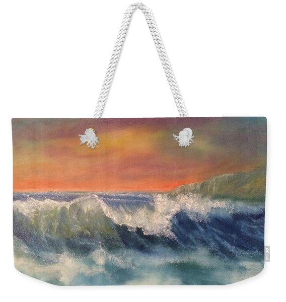 Weekender Tote Bag featuring the painting Sea Mist by Denise Tomasura