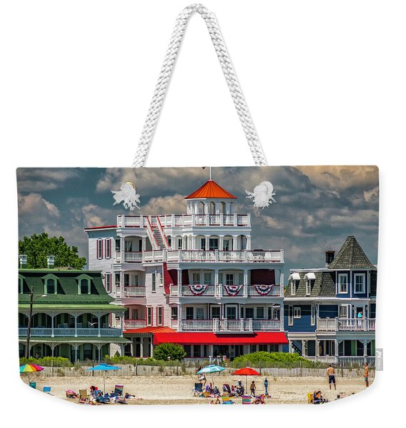 Sea Mist Hotel Weekender Tote Bag