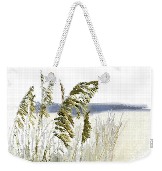 Weekender Tote Bag featuring the digital art Sea Oats by Gina Harrison