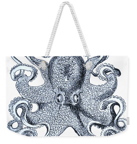 Sea Octopus Coastal Decor Weekender Tote Bag