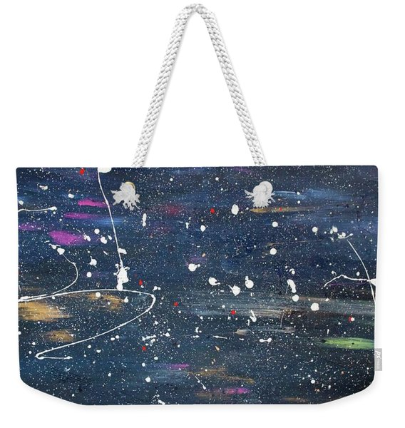 Weekender Tote Bag featuring the painting Sea Of Love by Michael Lucarelli