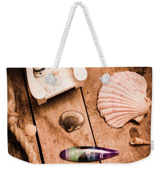 Sea Shell Decking Weekender Tote Bag