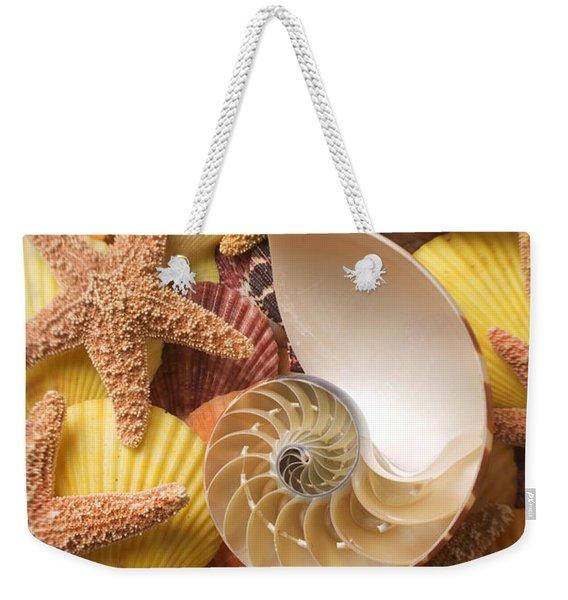 Sea Shells And Starfish Weekender Tote Bag