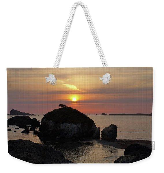 Sea Stack Sunset Weekender Tote Bag