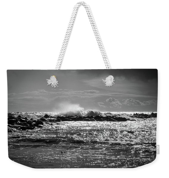 Sea Storm Weekender Tote Bag