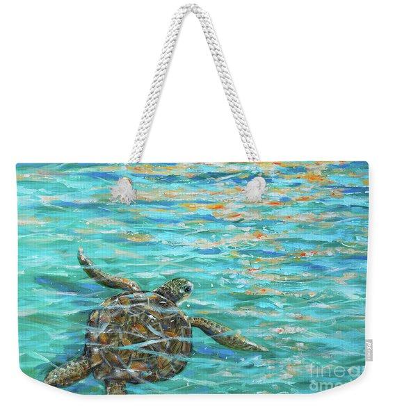 Sea Turtle Dream Weekender Tote Bag