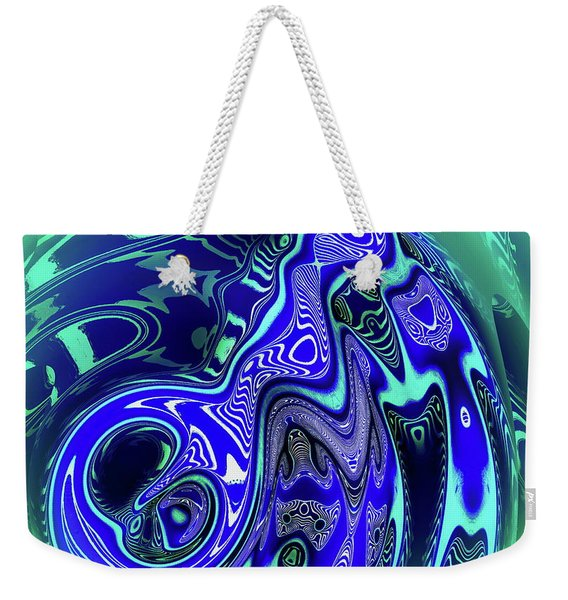 Weekender Tote Bag featuring the digital art Sea Urchins by Visual Artist Frank Bonilla