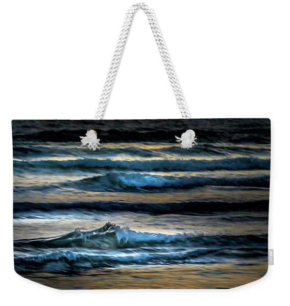 Sea Waves After Sunset Weekender Tote Bag