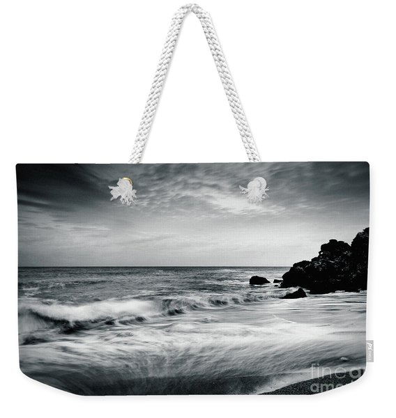 Sea Waves On The Beach Weekender Tote Bag