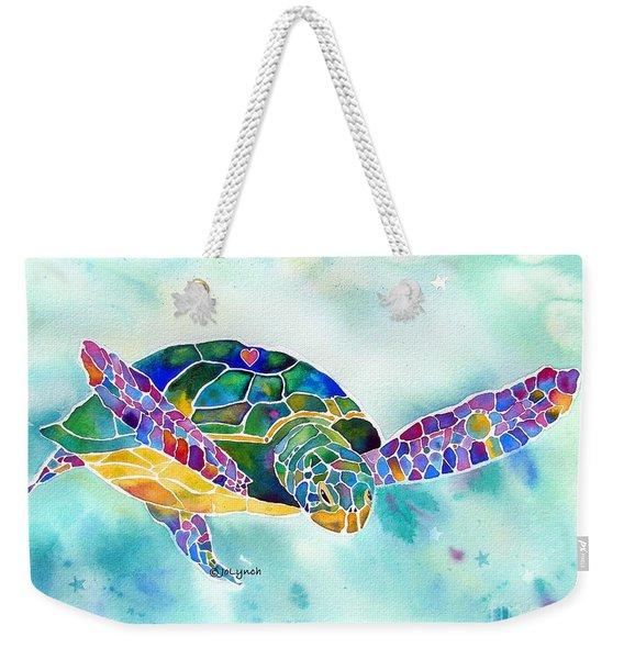 Sea Weed Sea Turtle  Weekender Tote Bag