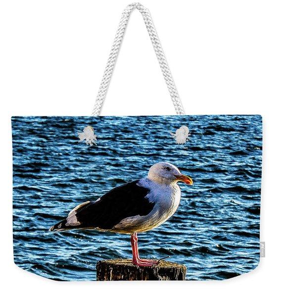 Seagull Perch Weekender Tote Bag
