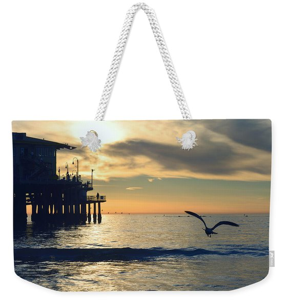 Seagull Pier Sunrise Seascape C2 Weekender Tote Bag