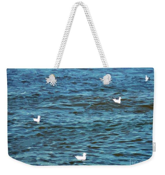 Seagulls And Water Art Weekender Tote Bag