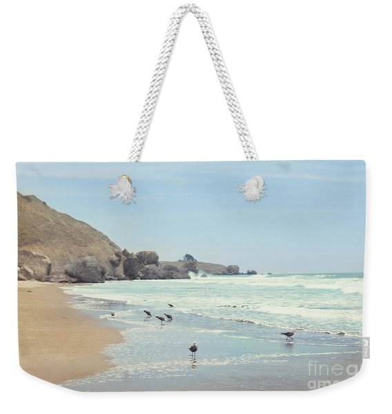 Seagulls In The Surf Weekender Tote Bag