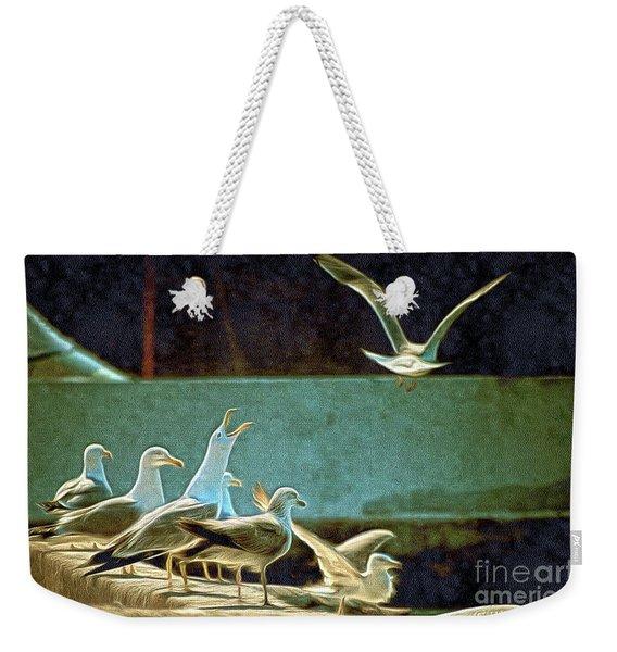 Seagulls On The Beach Weekender Tote Bag