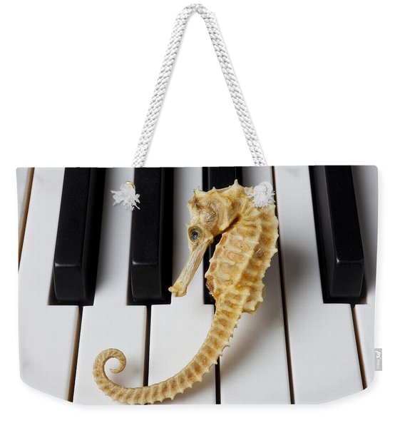 Seahorse On Keys Weekender Tote Bag