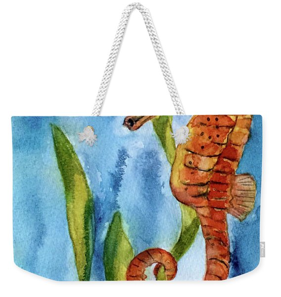 Seahorse With Sea Grass Weekender Tote Bag