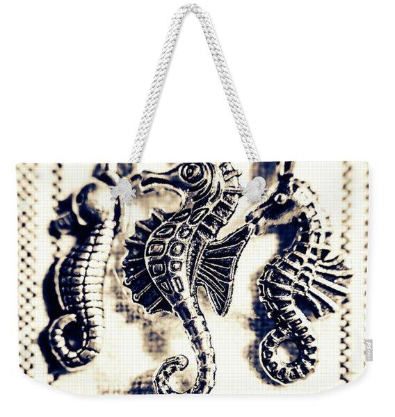 Seahorses In Blue Weekender Tote Bag