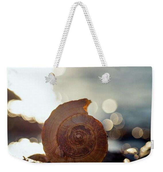Seashell Bokeh Weekender Tote Bag
