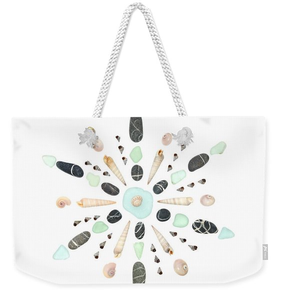Seashell Snowflake 5 Weekender Tote Bag