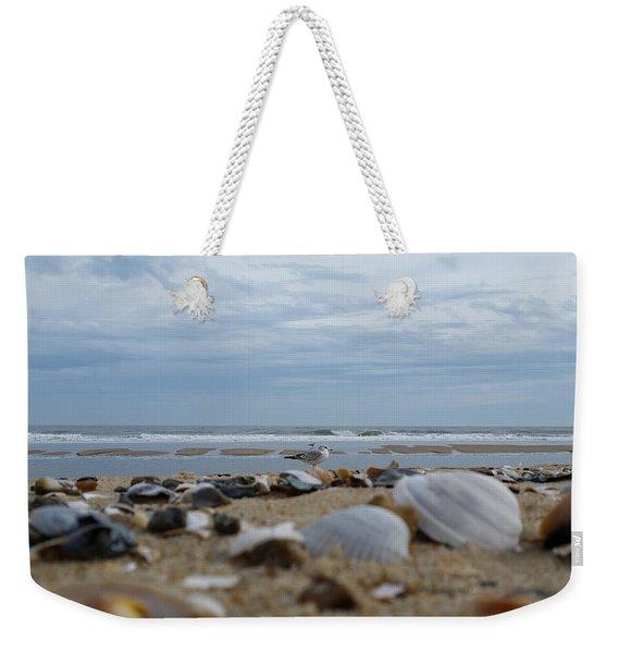 Seashells Seagull Seashore Weekender Tote Bag