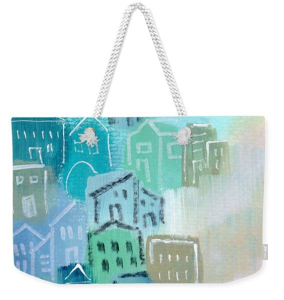 Seaside City- Art By Linda Woods Weekender Tote Bag