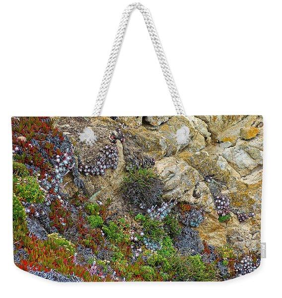 Seaside Cliff Garden In Point Lobos State Reserve Near Monterey-california  Weekender Tote Bag